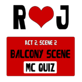 Romeo and Juliet Balcony Scene Close Read 20 Multiple Choice Quiz Test