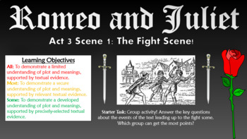 Romeo and Juliet Big Bundle! (All lessons, worksheets, plans, everything!)