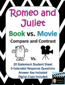 Romeo and Juliet Book vs. Movie Compare and Contrast