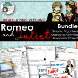 Romeo and Juliet Bundle - Organizers, Character Activities, Project and MORE!