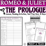 Romeo and Juliet FSA/PARCC Style Questions w/ Answer Key