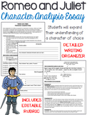 Romeo and Juliet: Character Analysis, Five-Paragraph Essay