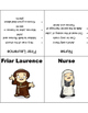 Romeo and Juliet Character Tents