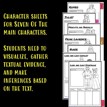 Romeo and Juliet Characterization Flip book