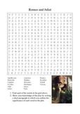 Romeo and Juliet - Characters and Locations Word Search