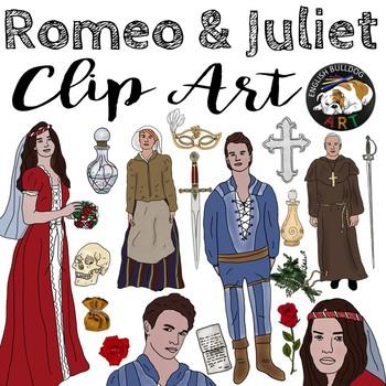 romeo and juliet clip art set by english bulldog art tpt rh teacherspayteachers com heart romeo and juliet clipart romeo y julieta clipart