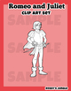 Romeo and Juliet Clip Art Set