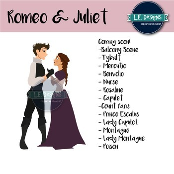 Romeo and Juliet Clipart {Growing Set}