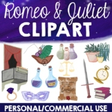 Romeo and Juliet Clipart (Personal and Commerical Use)