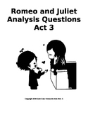 Romeo and Juliet Close Reading / Analysis Questions -- Act 3