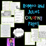 Romeo and Juliet Coloring Pages: Mini Posters