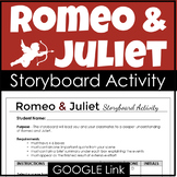Romeo and Juliet Activity for a Visual Storyboard