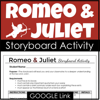 Romeo And Juliet Activity For A Visual Storyboard By Love And Let Lit
