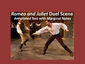Romeo and Juliet Common Core Annotated Text – Duel Scene (Act III, Scene i)