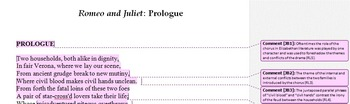 Romeo and Juliet Common Core Annotated Text – Prologue