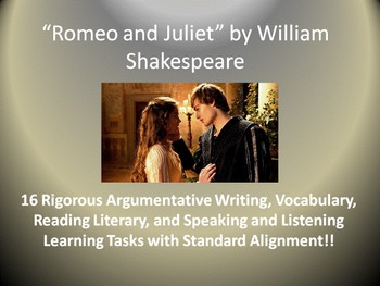 Romeo and Juliet Common Core Unit Learning Tasks - 16 Rigorous Activities!!