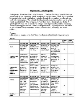 Romeo and Juliet Companion Play Lesson Plan
