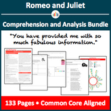 Romeo and Juliet – Comprehension and Analysis Bundle