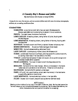 Romeo and Juliet Country Boy Style