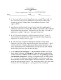 Romeo and Juliet Critical Thinking Questions