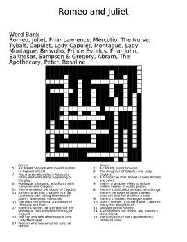Romeo and Juliet Crossword