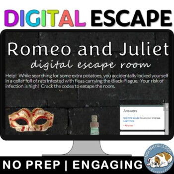 21623cc3f03f5 Romeo and Juliet Digital Lock Box Escape Room Game by English Bulldog
