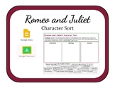 Romeo and Juliet Digital Character Sort