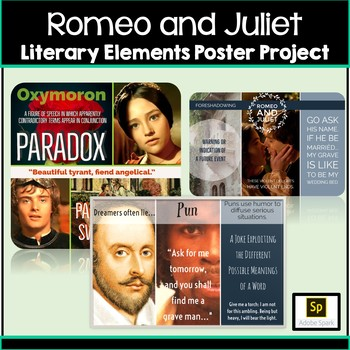 Romeo And Juliet Figurative Language Posters Activity And