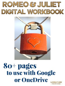 Romeo and Juliet Digital Workbook for Google and OneDrive