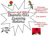 """Romeo and Juliet"" Dramatic Arts Learning Stations"