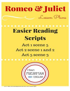 Romeo and Juliet Easier Reading Script