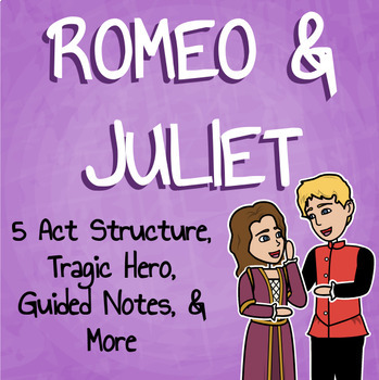 Romeo and Juliet - Tragic Hero, Plot, Quiz, Guided Notes and More!