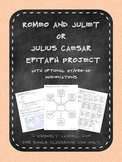 Romeo and Juliet and Julius Caesar Epitaph Project Bundle with GT Extension