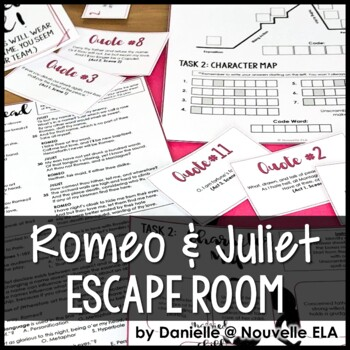 Romeo And Juliet Escape Room Review Activity By Nouvelle