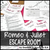 Romeo and Juliet Escape Room Review Activity