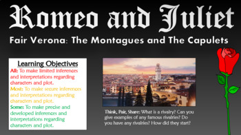 Romeo and Juliet: Fair Verona - The Montagues and The Capu