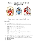 Romeo and Juliet Family Crest Creative Activity