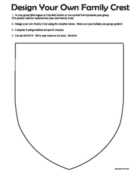 romeo and juliet powerpoint template - romeo and juliet family crest shield class building