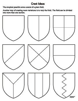 Romeo and Juliet Family Crest / Shield Class Building Activity