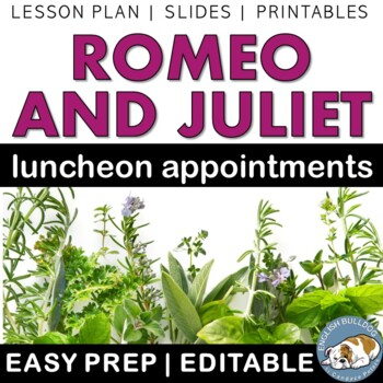 Romeo and Juliet Fancy Lunch--Analysis of Shakespeare's Cr