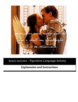 Romeo and Juliet - Figurative Language Activity