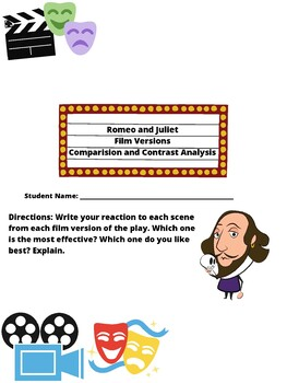 Romeo and Juliet Film Comparison and Contrast Activity