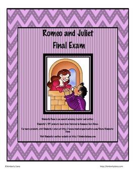 Romeo and Juliet Final Exam Test