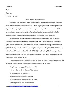 Romeo and Juliet Final Paper: Love or Infatuation?