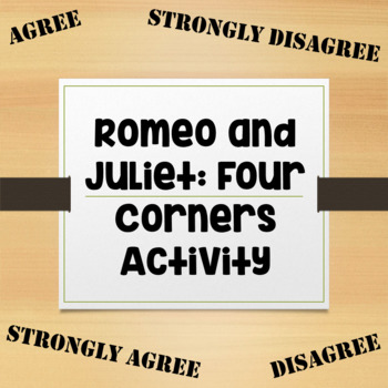 Romeo and Juliet: Four Corners Activity