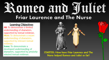 Romeo and Juliet: Friar Laurence and The Nurse!