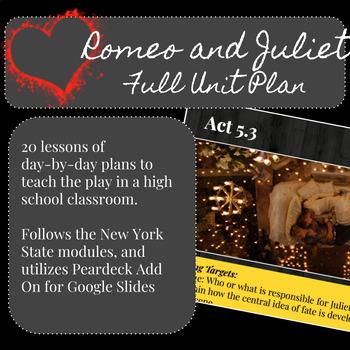 Romeo and Juliet - Full Unit Plan