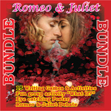 Romeo and Juliet Fun Activities Bundle- 15 games,  a debate, group work acting!