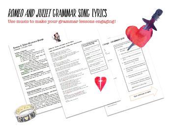 Romeo and Juliet Grammar Songs