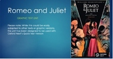 Romeo and Juliet Graphic Text Unit